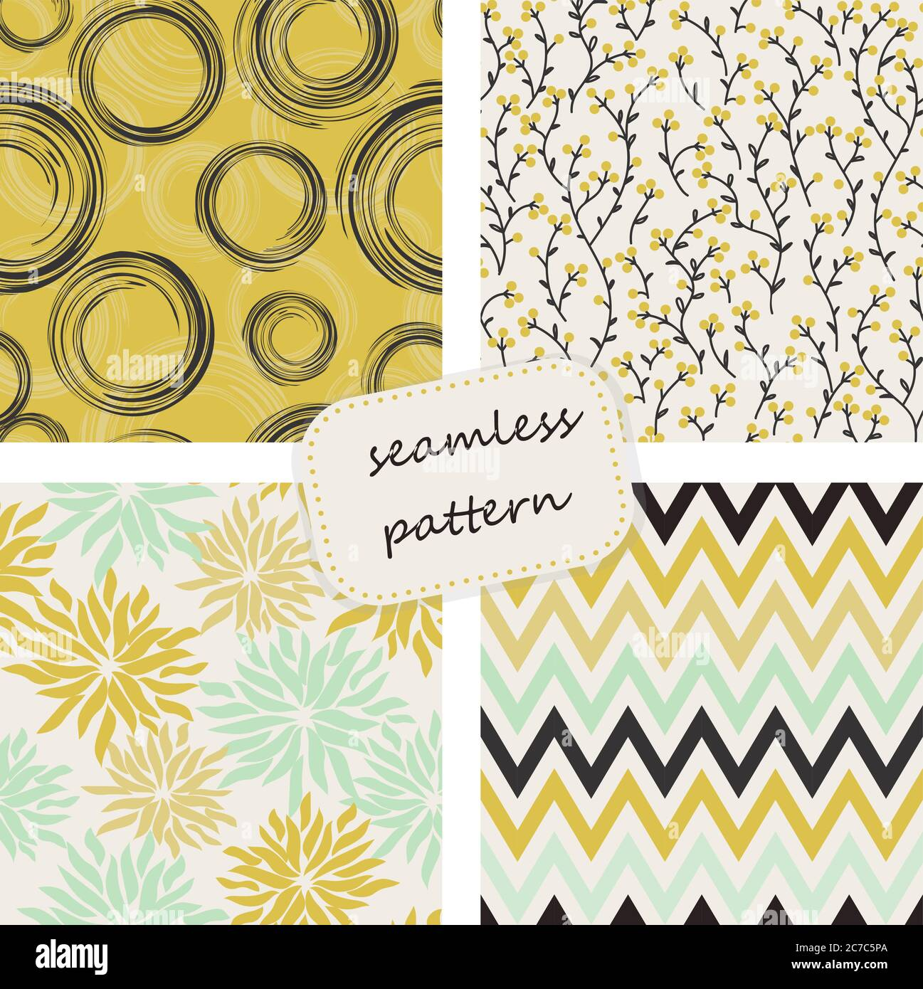 Vintage seamless colorful pattern in retro colors. Hand drawn. Vector pattern can be used for wallpaper, textile, invitation, web page background. Stock Vector