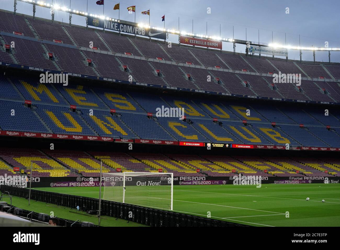 barcelona spain 16th july 2020 spanish la liga soccer match fc barcelona vs osasuna at camp alamy