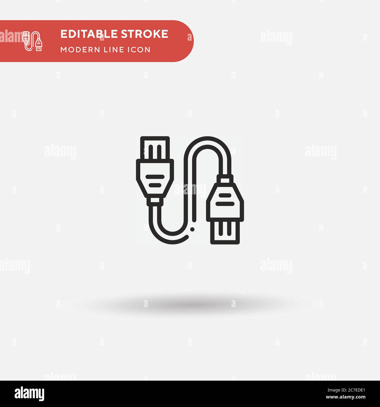hdmi cable simple vector icon illustration symbol design template for web mobile ui element perfect color modern pictogram on editable stroke hdmi stock vector image art alamy alamy