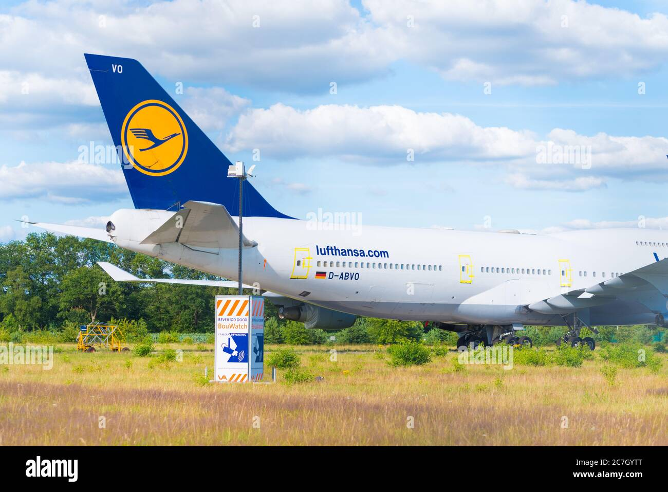 Enschede Netherlands July 12 2020 Boeing 747 400 Airplanes Stalled During The Corona Crisis On Twente Airport A Former Military Airbase In The N Stock Photo Alamy