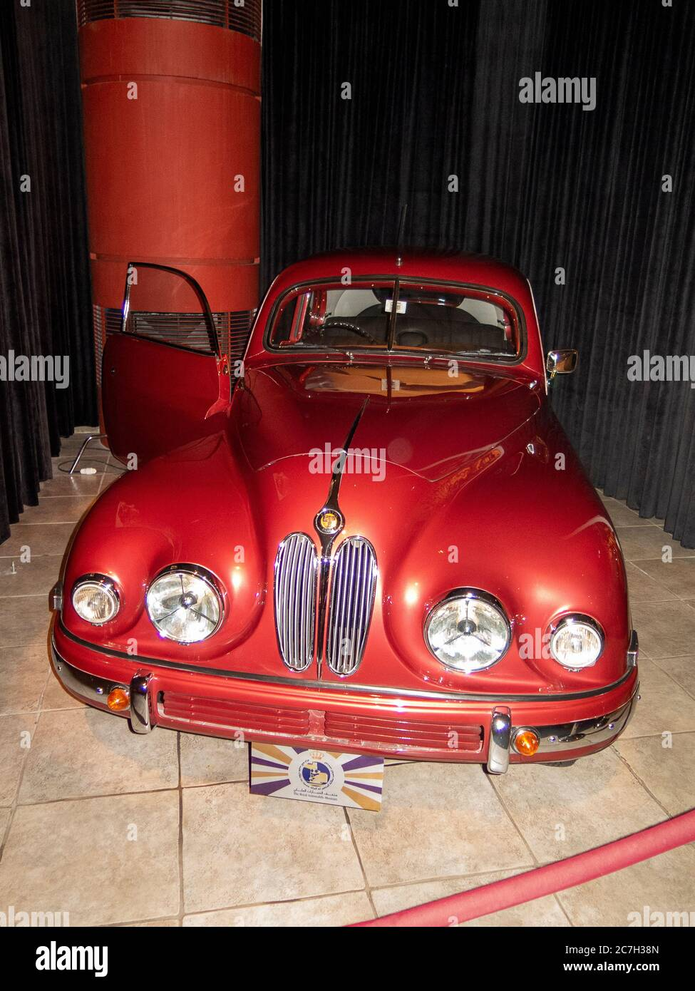 Bristol 401 coupe 1952, The Royal Automobile museum. Stock Photo