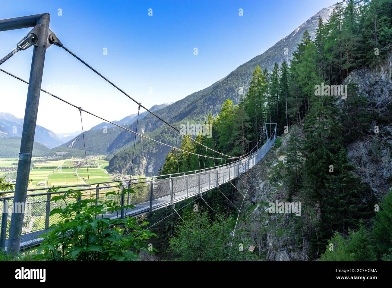 Europe, Austria, Tyrol, Ötztal Alps, Ötztal, Längenfeld suspension ...