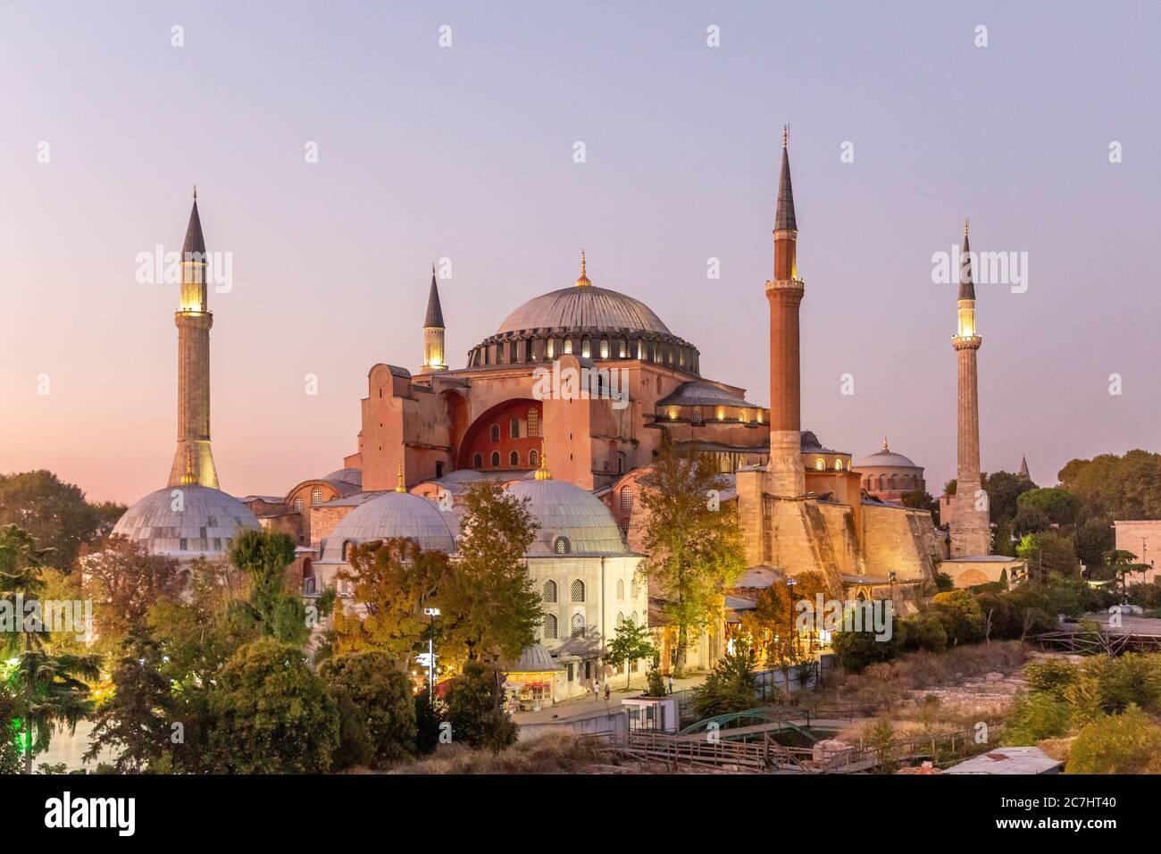 Hagia Sophia, Ayasofya Müzesi, Istanbul Stock Photo