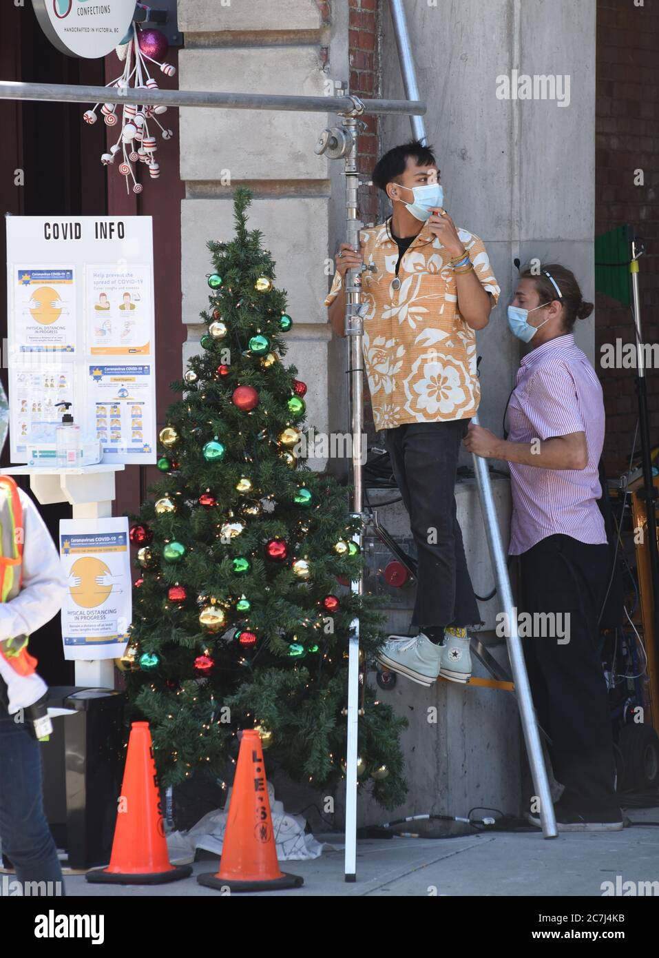 Victoria Christmas Special 2020 Victoria, British Columbia, Canada, 17 July 2020   Mask wearing