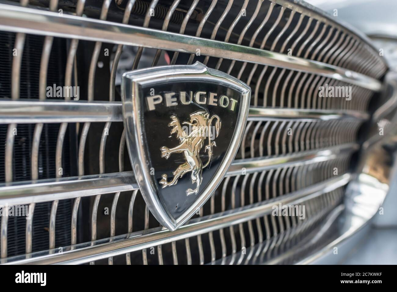 Breuberg, Hessen, Germany. Peugeot 404 station wagon, year of construction 1964, PS 80, displacement 1998. Stock Photo