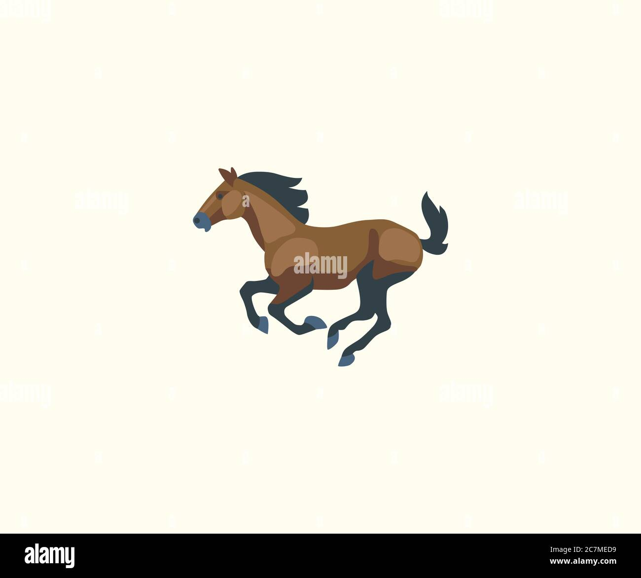 Running Horse Vector Isolated Illustration Horse Icon Stock Vector Image Art Alamy