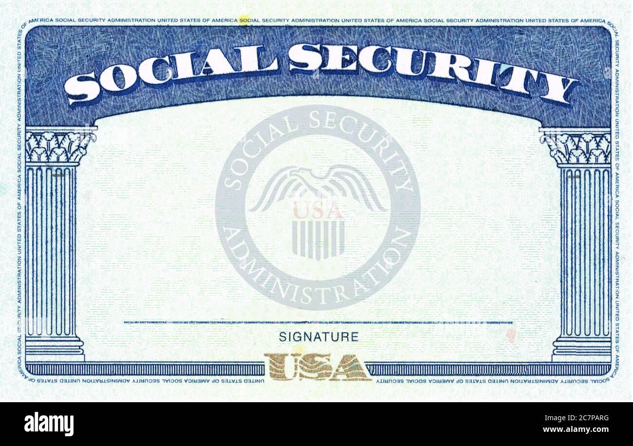 Blank Social Security Card Isolated High Resolution Stock Inside Editable Social Security Card Template