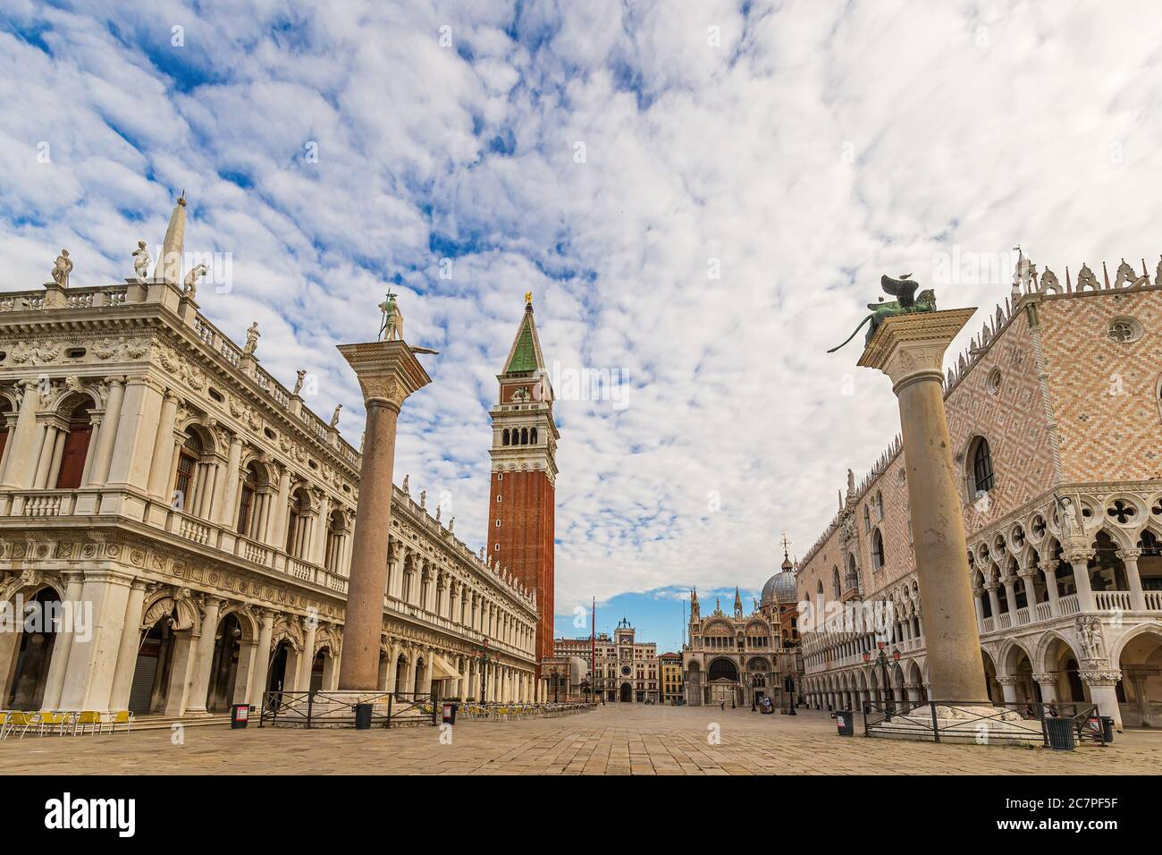 A view of the Campanile at St Mark's Square in Venice, Italy Stock Photo
