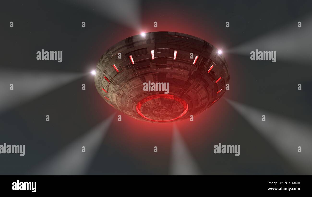3d render. Unidentified flying object Stock Photo