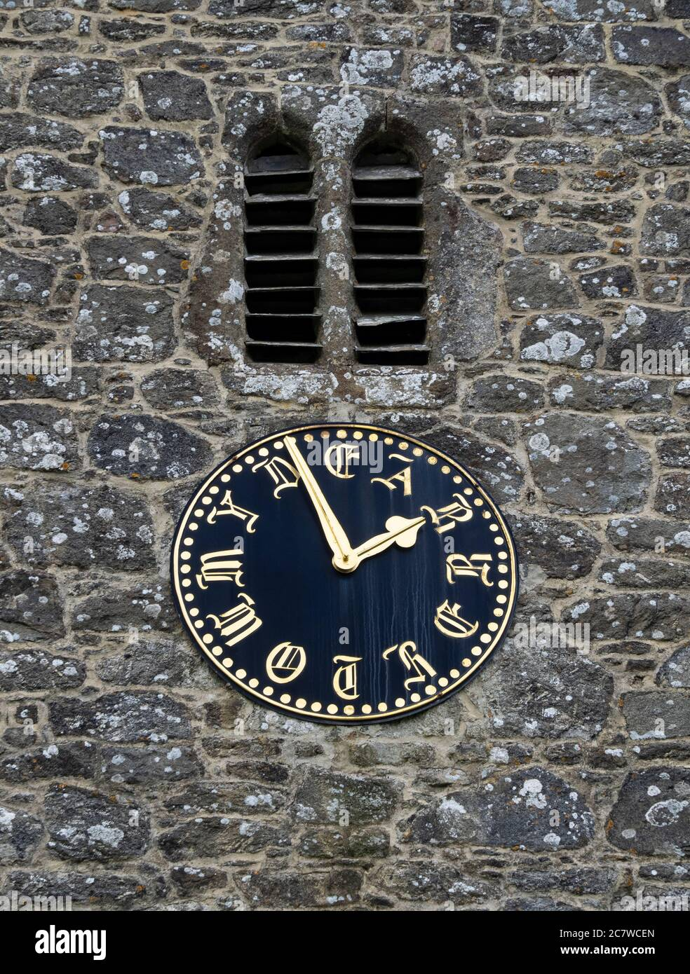 Unusual Clock Face Which Reads My Dear Mother At St Peter S Church Buckland In The Moor Dartmoor Devon Uk Stock Photo Alamy