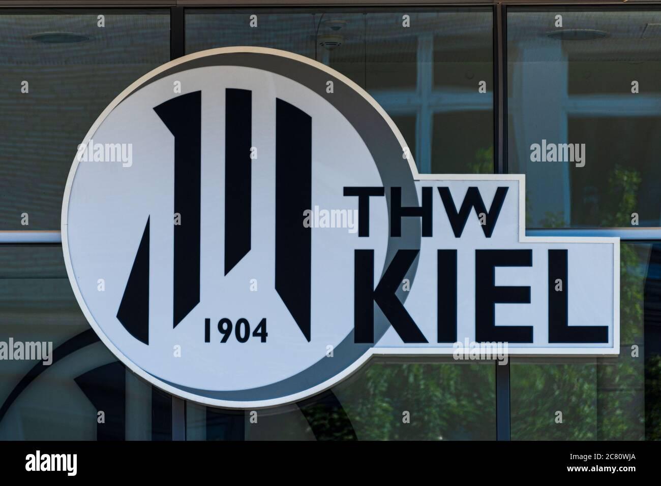 Vereinzeichen des Spitzen Handballvereis THW-Kiel Stock Photo