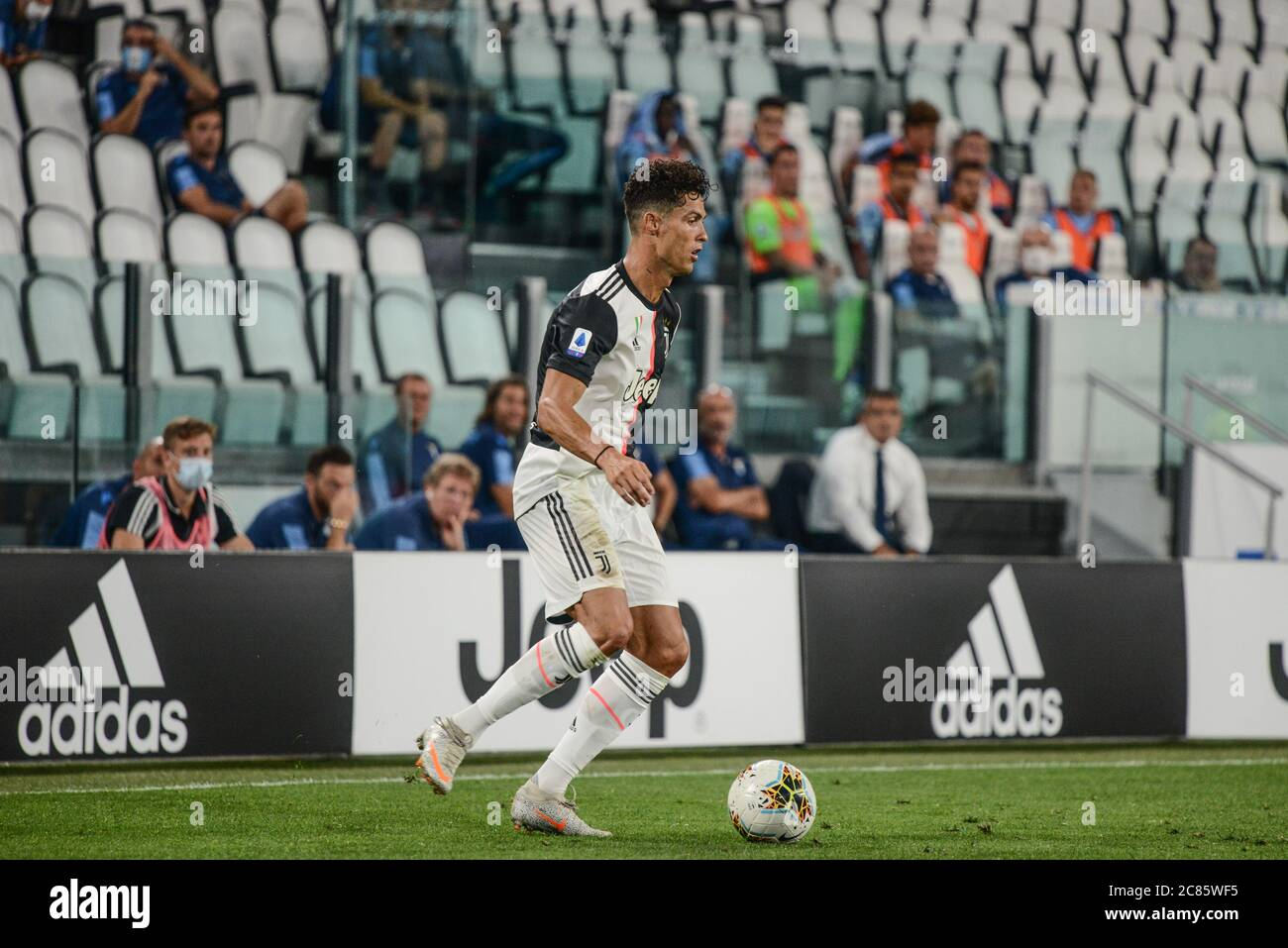 Turin Italy 20th July 2020 Cristiano Ronaldo Of Juventus In Action During The Serie A Football