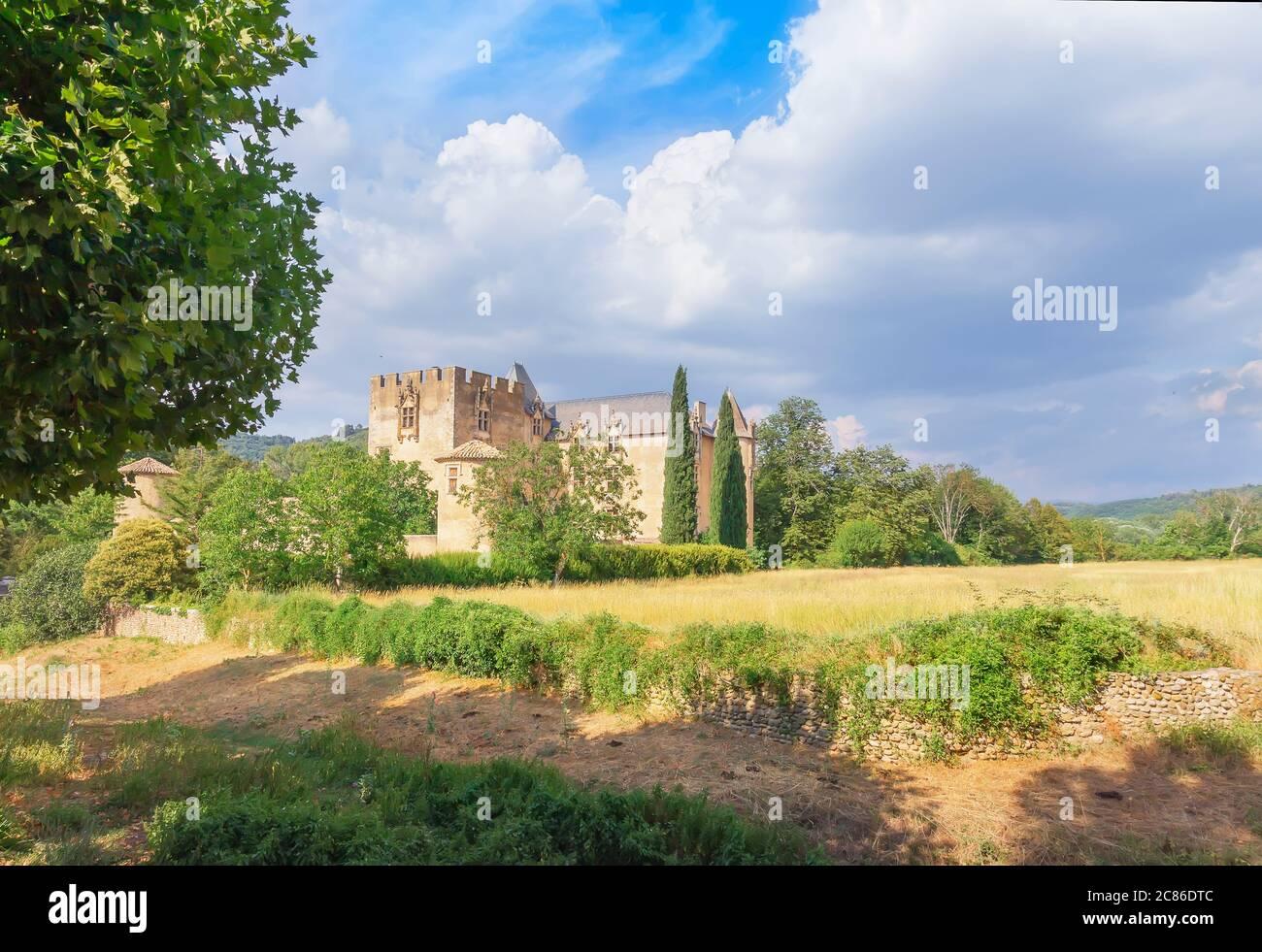 Medieval Castle, Allemagne en Provence, Alpes de Haute Provence, Provence  France, Stock Photo