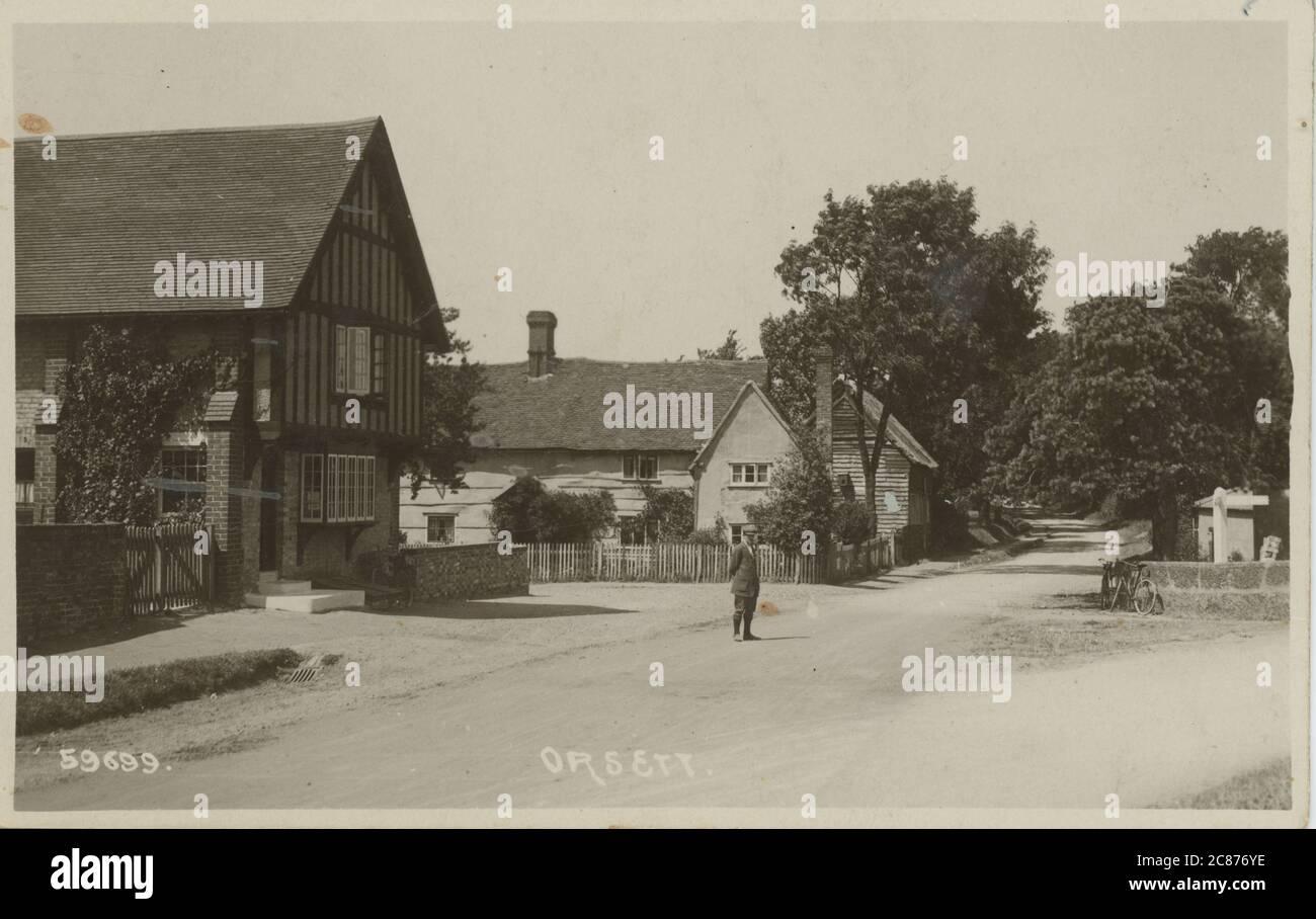 Rectory Road, Orsett, Thurrock, Essex, England. 1900s Stock Photo