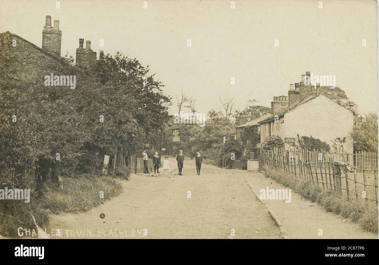 The Tea Rooms , Charlestown, Blackley, Manchester, Lancashire, England.     Date: 1908 Stock Photo