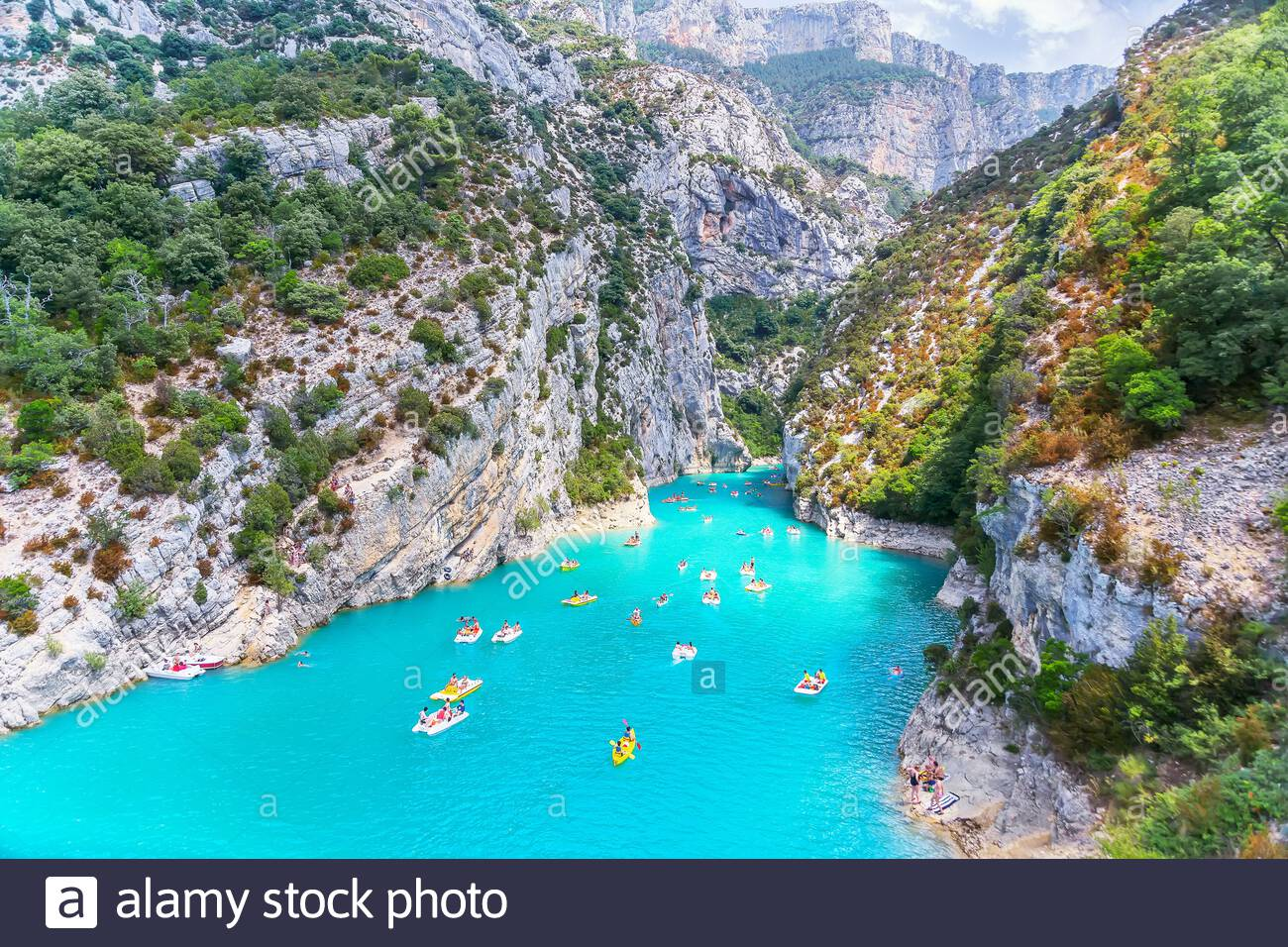 Lake of Sainte-Croix, Gorges du Verdon, Alpes-de-Haute Provence, Provence, France, Europe Stock Photo