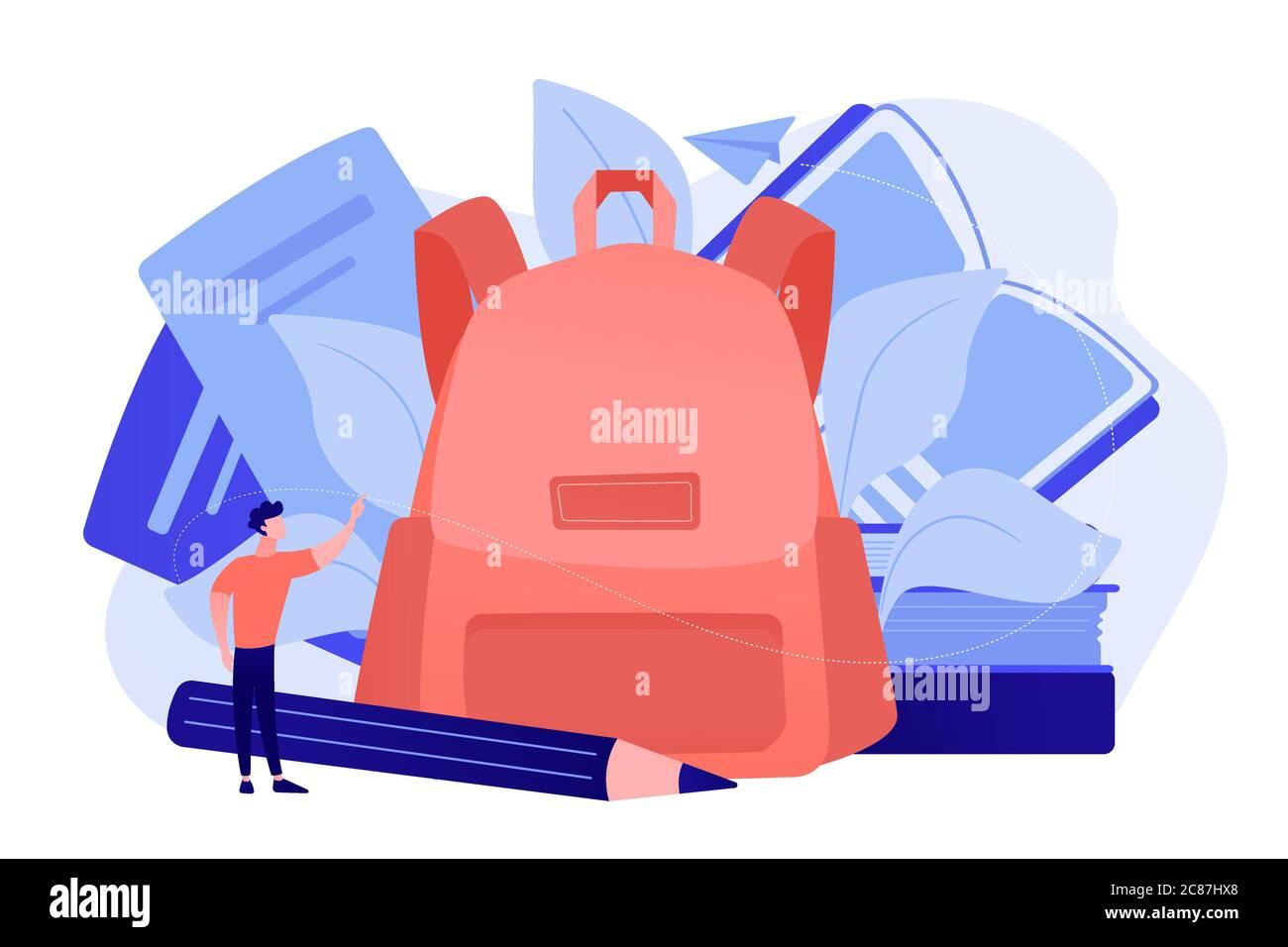 Back to school supplies concept vector illustration. Stock Vector