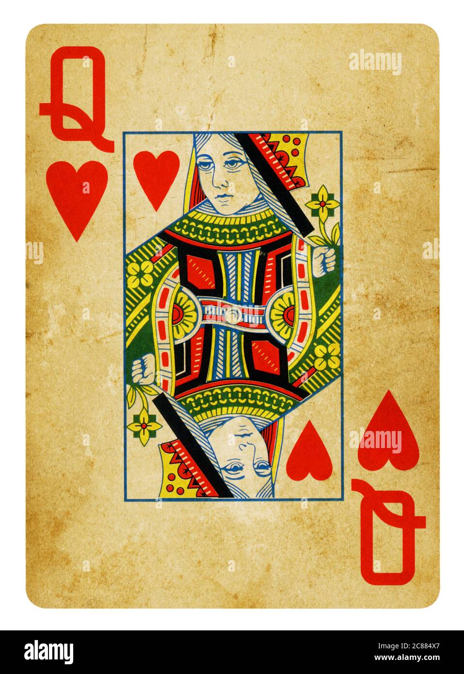 Queen Of Hearts Card Vector High Resolution Stock Photography And Images Alamy