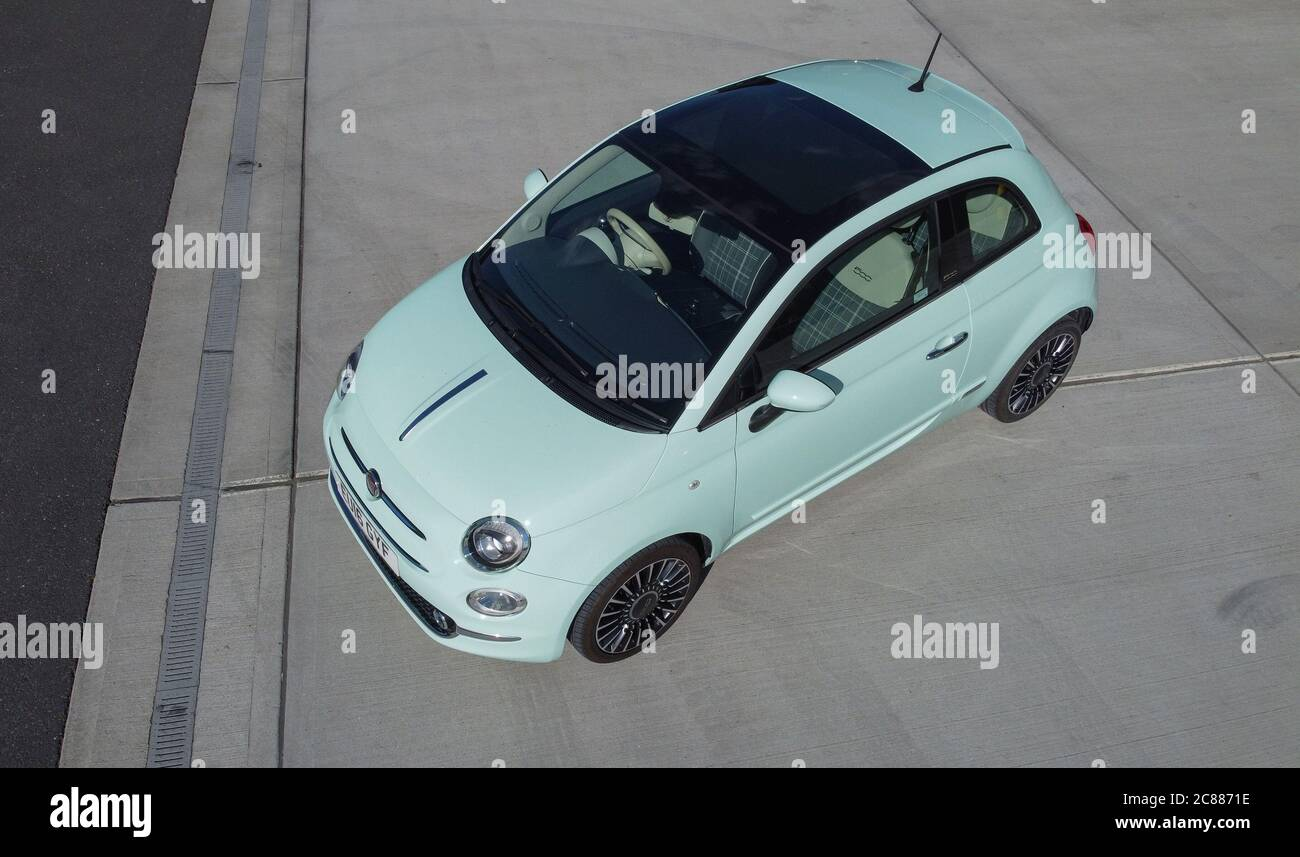 Green Fiat 500 High Resolution Stock Photography And Images Alamy