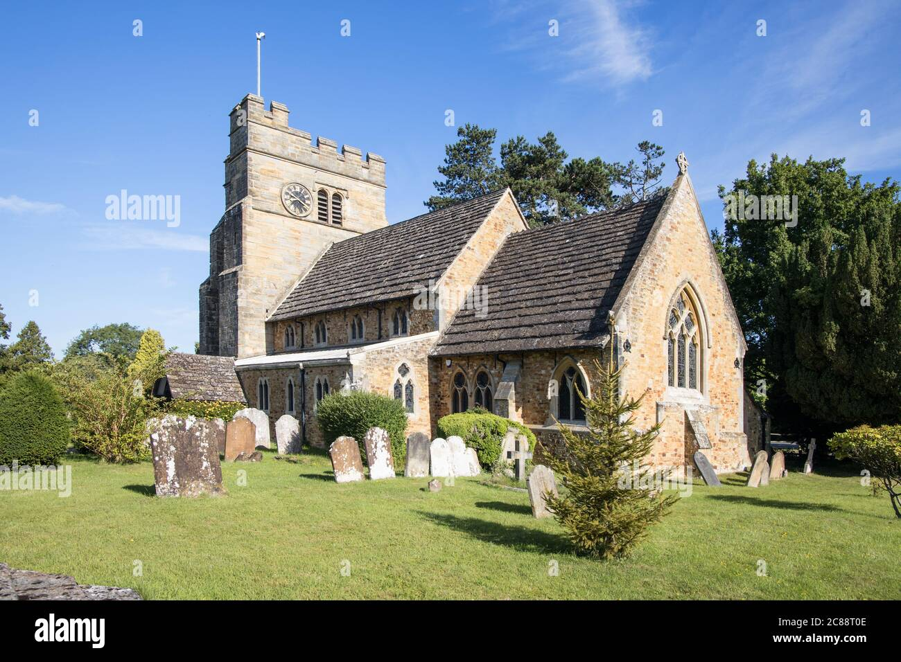 st mary magdalene parish church in rusper village west sussex Stock Photo