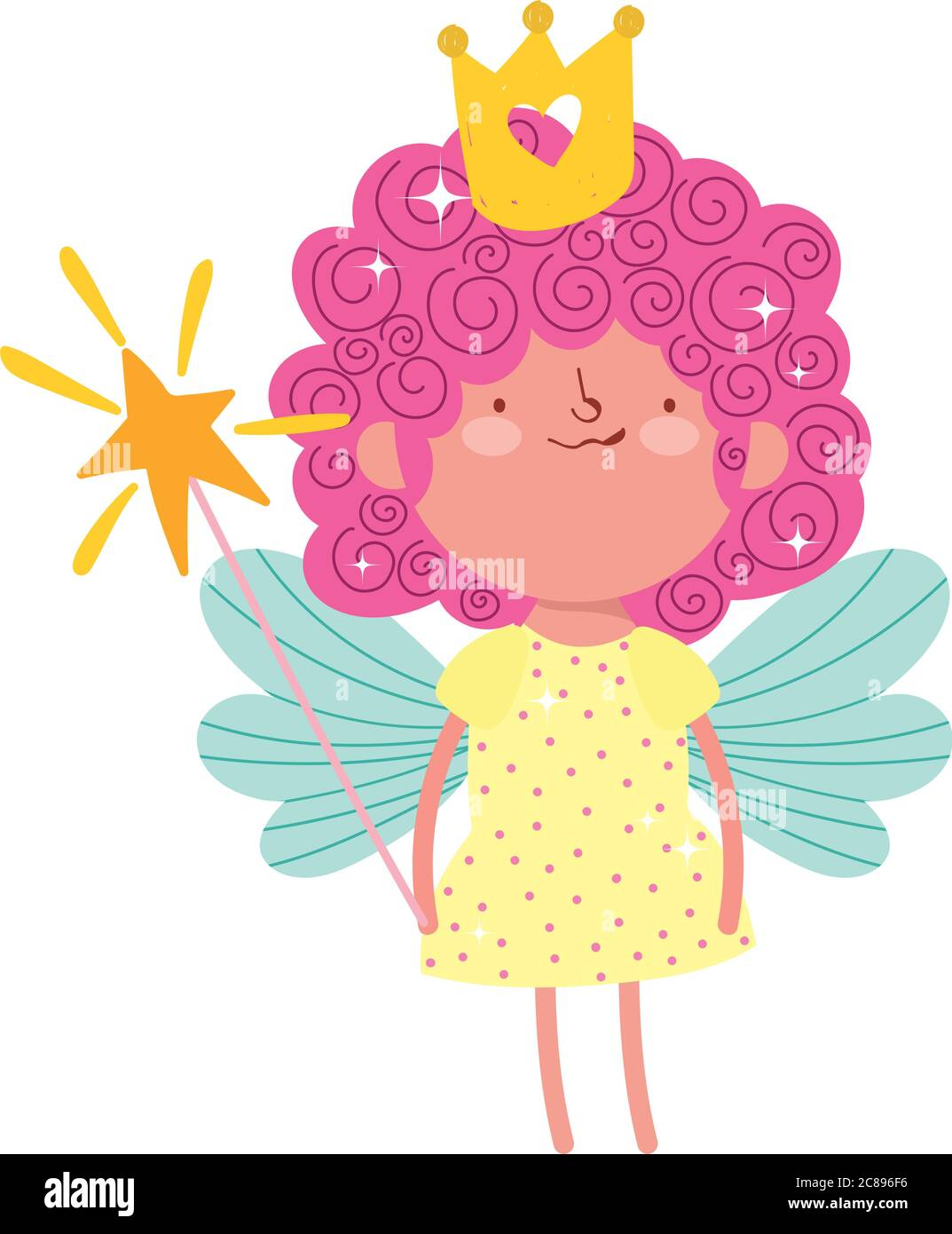 Cute Little Fairy With Magic Wand And Crown Cartoon Isolated Icon Design Vector Illustration Stock Vector Image Art Alamy Choose from 690+ cartoon crown graphic resources and download in the form of png, eps, ai or psd. alamy