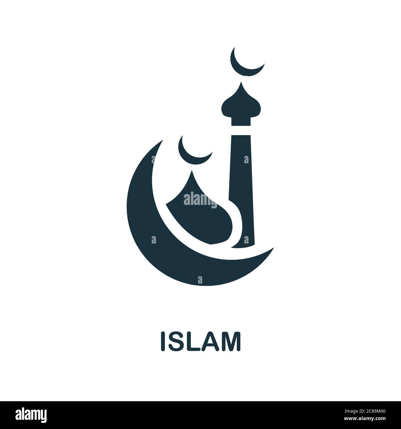 islam icon simple element from religion collection creative islam icon for web design templates infographics and more stock vector image art alamy alamy