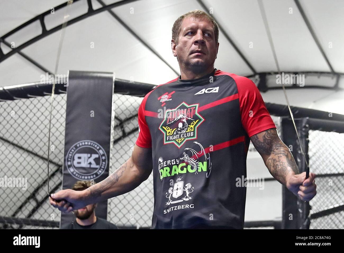 Sochi, Russia. 22nd July, 2020. MMA fighter Alexander Emelianenko ...