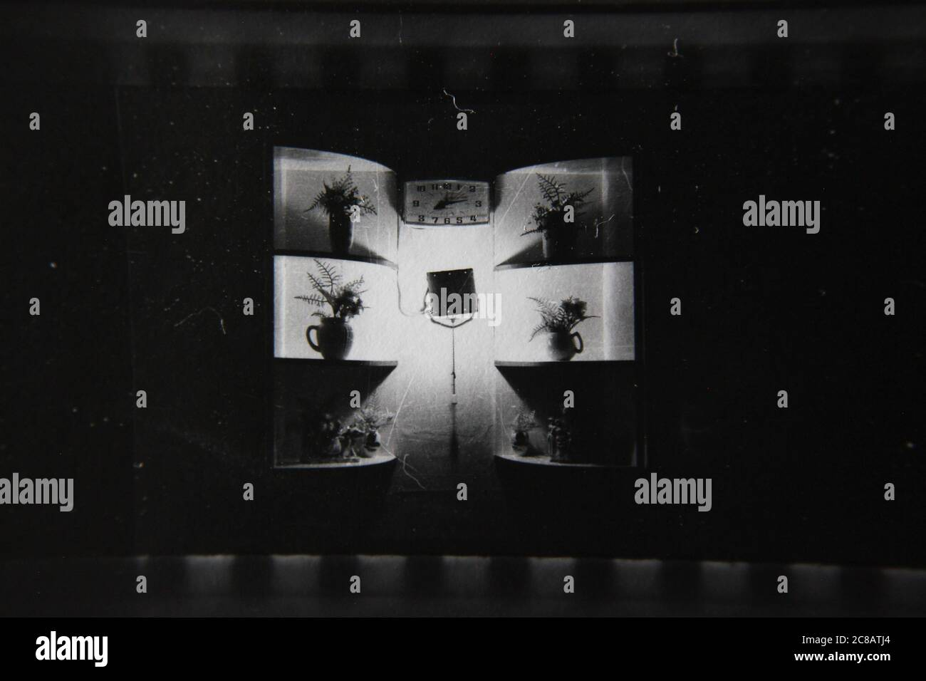 Fine 70s Vintage Contact Print Black And White Photography Of The Kitchen Sink And Cabinets At Grandma S House Stock Photo Alamy