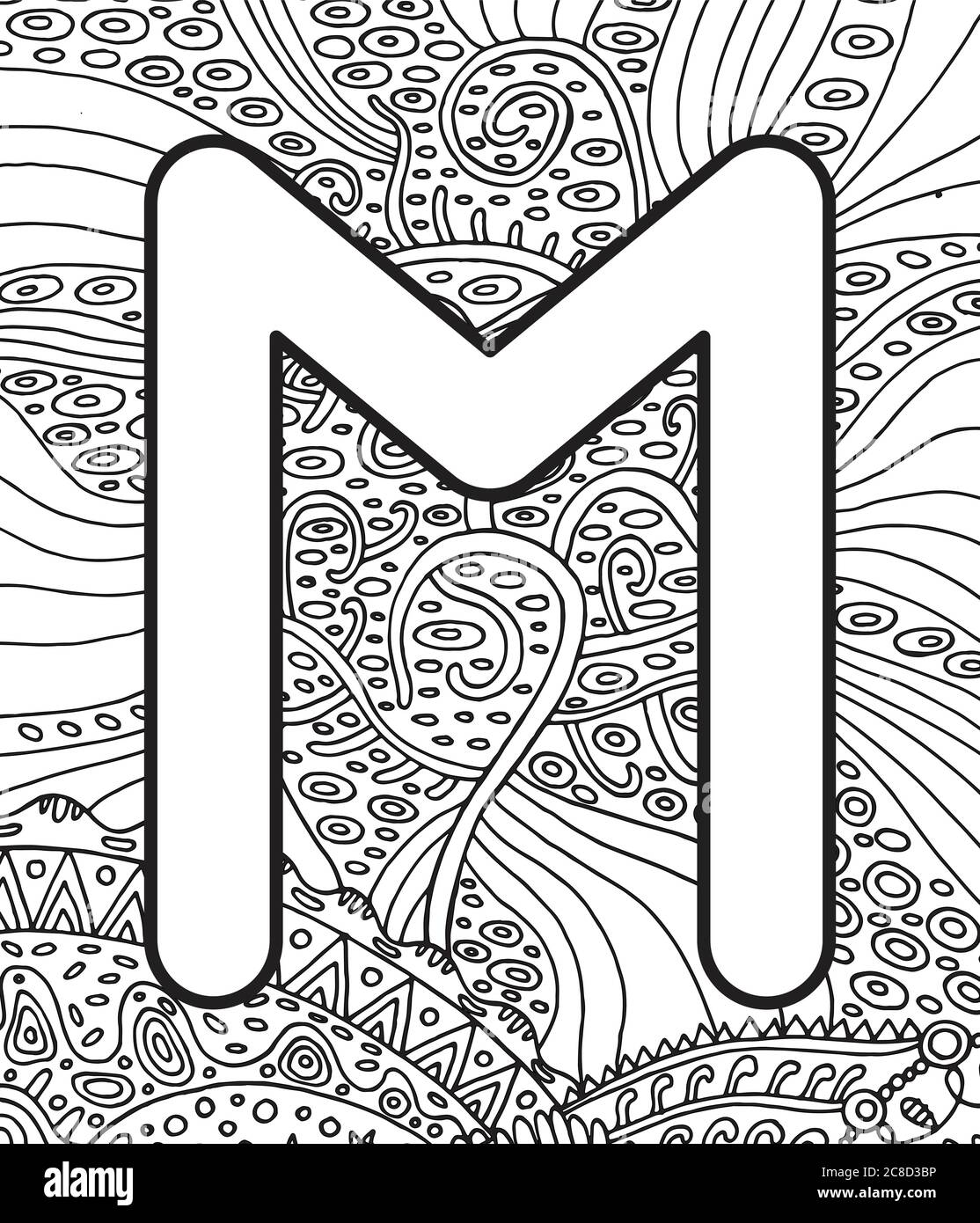 Ancient Scandinavic Rune Ehwaz With Doodle Ornament Background Coloring Page For Adults Psychedelic Fantastic Mystical Artwork Vector Illustration Stock Vector Image Art Alamy
