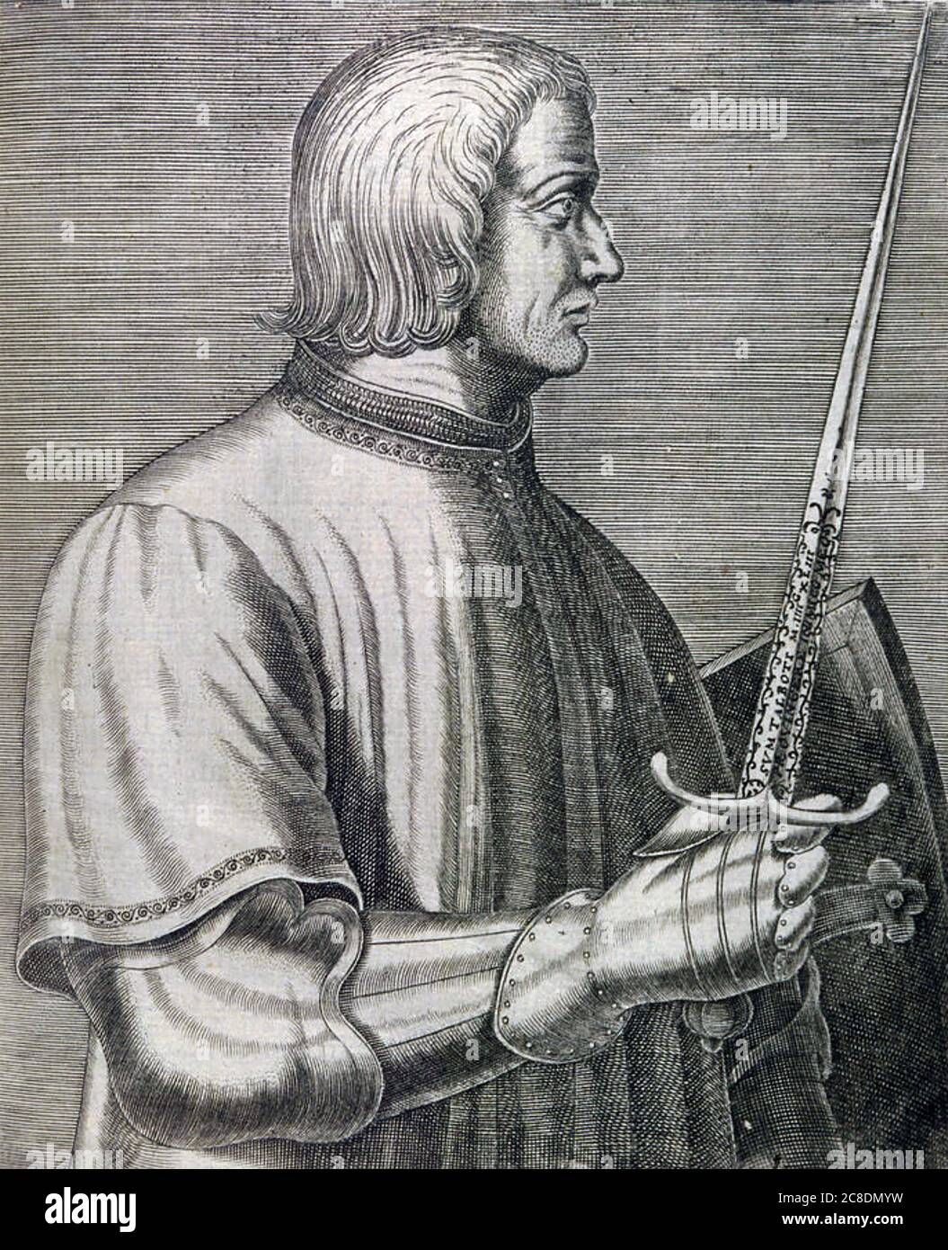 JOHN TALBOT, 1st Earl of Shrewsbury (c 1387-1453)  English nobleman and army commander during the Hundred Years War Stock Photo