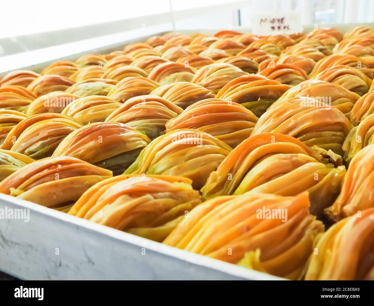 Turkish sweets,baklava,sweets,Turkey Stock Photo