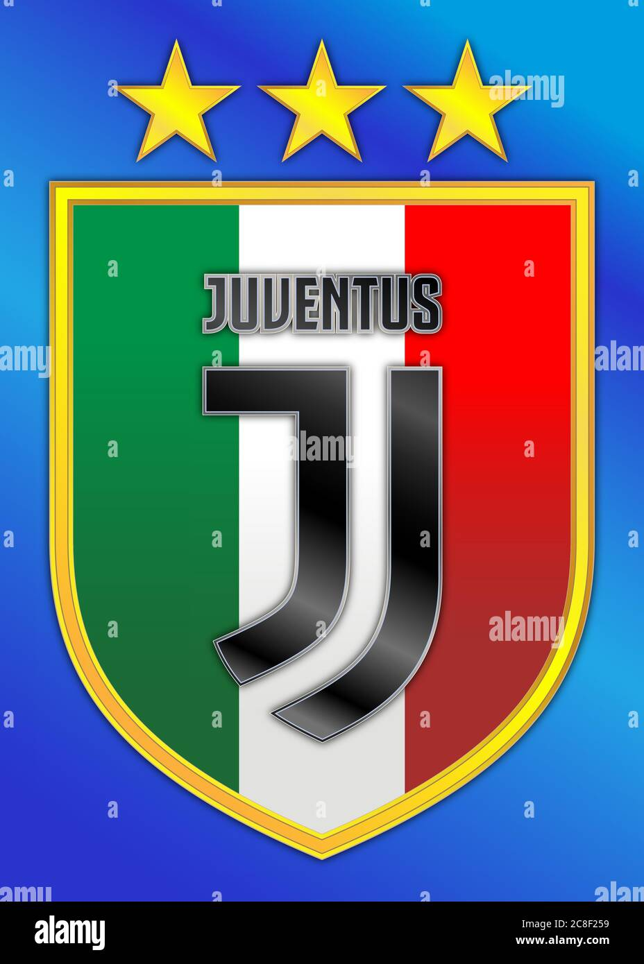 juventus logo high resolution stock photography and images alamy https www alamy com italy 2019 2020 football championship juventus champion of italy team logo on shield and three gold stars graphic illustration image366665973 html