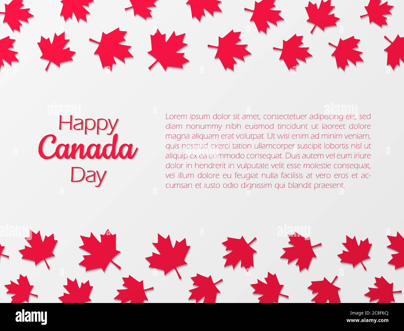 Happy Canada Day Background With Paper Cut Maple Leaves Stock Vector Image Art Alamy
