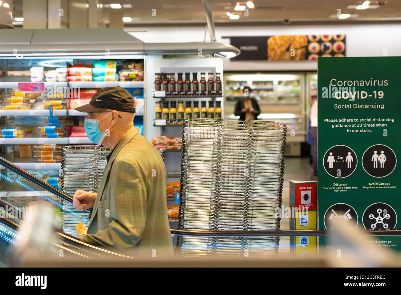 London Uk Friday 24 July 2020 Shoppers Wearing Protective Masks In Ealing On The Day Face Coverings Became Mandatory In Shops In The Uk Photo Roger Garfield Alamy Live News Stock Photo Alamy