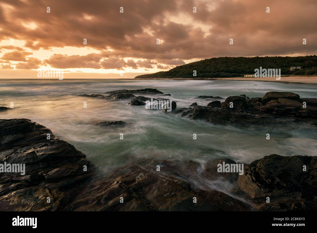 Sunrise at Kennett River along the famous Great Ocean Road. Stock Photo