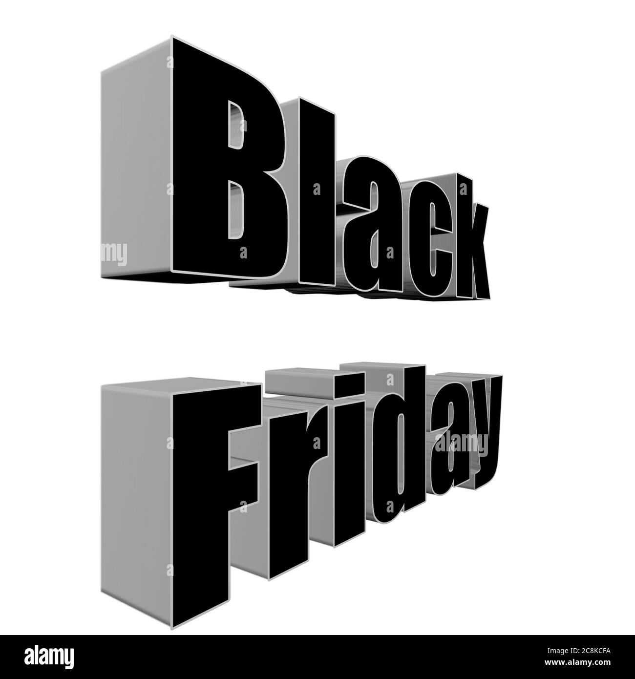 Black Friday 3d Illustration Black Friday Name 3d Rendering Black Friday 3d Clip Art Stock Photo Alamy