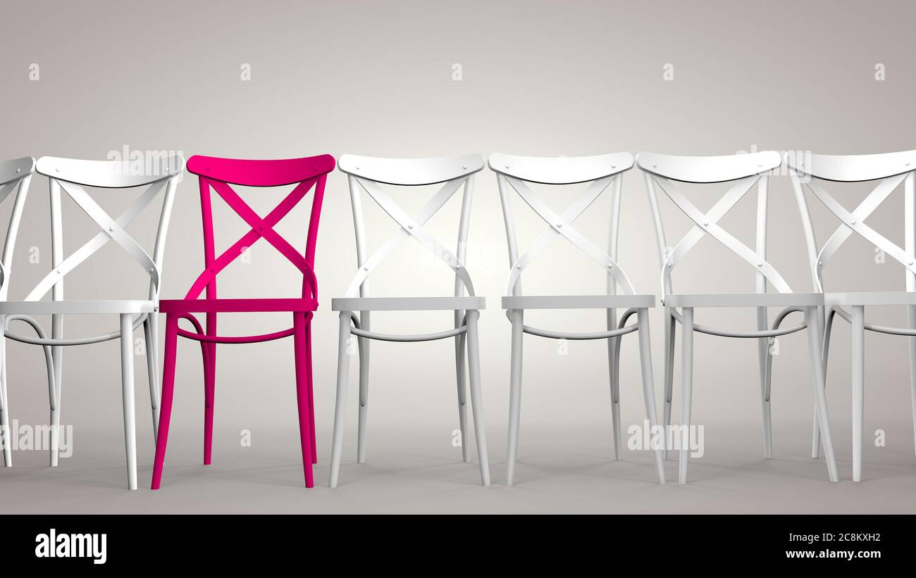 Individuality is a concept, to be different, to be the best, to stand out. 3D rendering Stock Photo