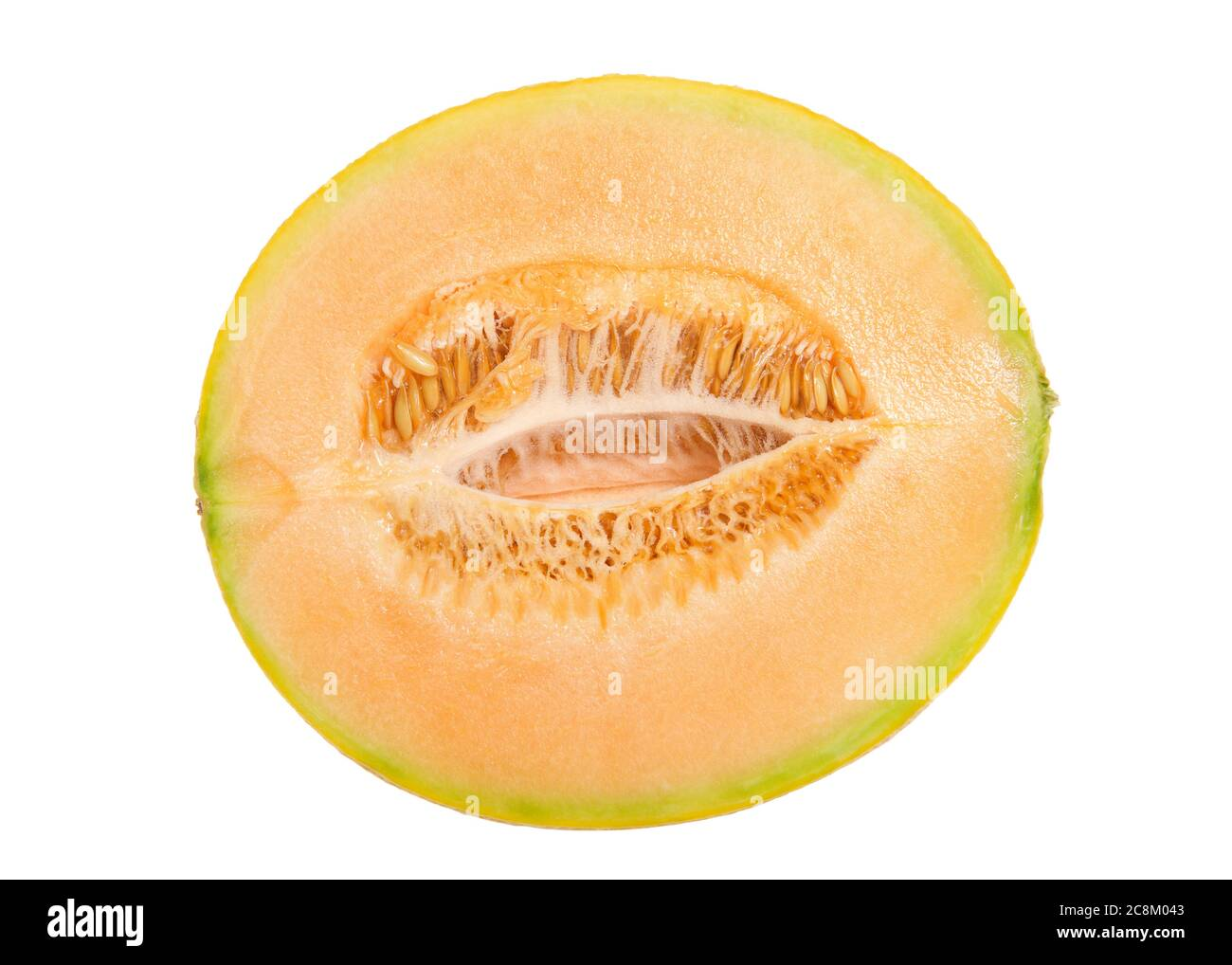 Close Up On Cross Section Of Cantaloupe Cut Lengthwise Showing Seeds Isolated On White Stock Photo Alamy Here you can explore hq cantaloupe transparent illustrations, icons and clipart with filter setting like polish your personal project or design with these cantaloupe transparent png images, make it even. alamy