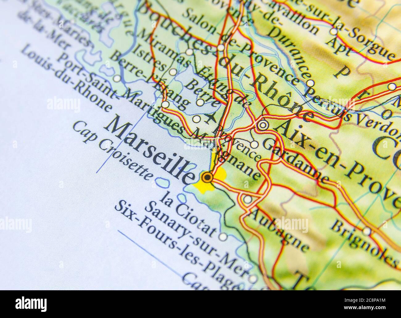 Picture of: Geographic Map Of European Country France With Marseille City Stock Photo Alamy