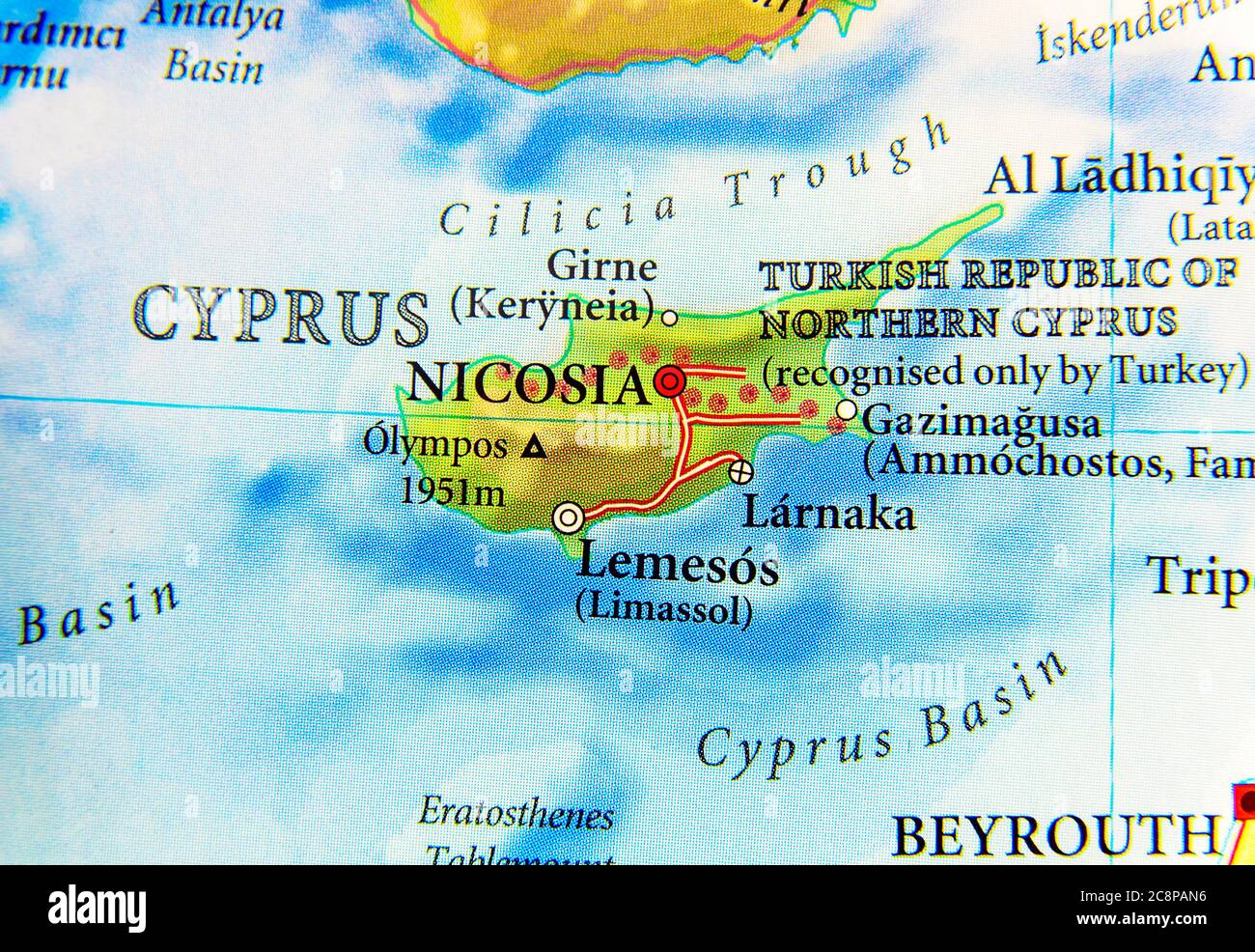 Picture of: Geographic Map Of European Country Greece And Turkey Island Cyprus Stock Photo Alamy