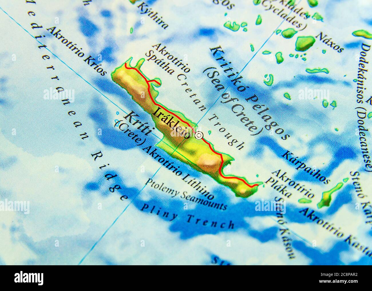 Picture of: Geographic Map Of European Country Greece Island Cyprus Stock Photo Alamy