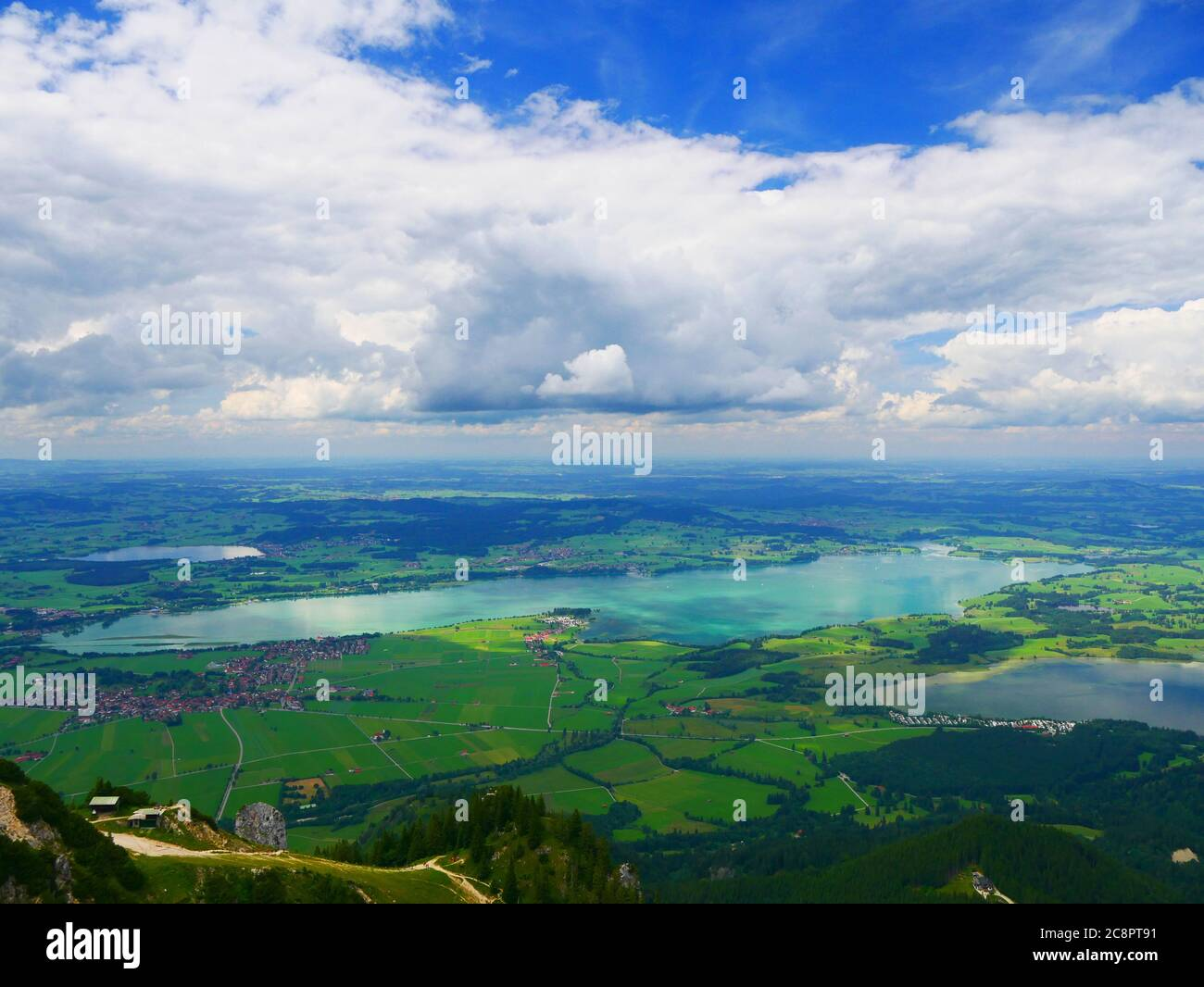 Füssen, Germany: Lake panorama in the Allgäu Stock Photo