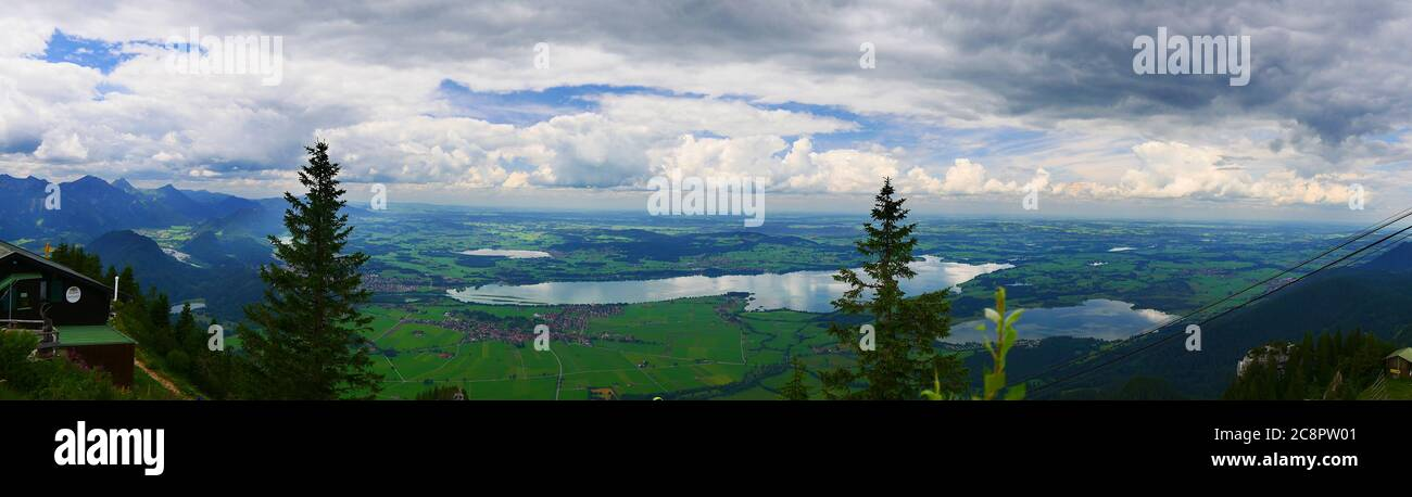 Füssen, Germany: Allgäu lake panorama Stock Photo