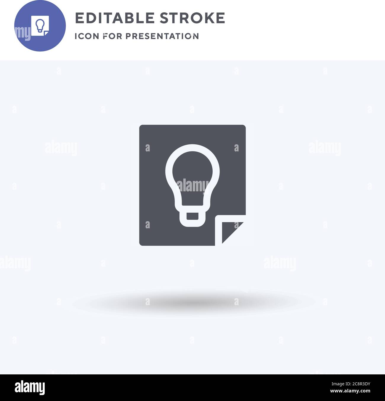 Idea icon vector, filled flat sign, solid pictogram isolated on white, logo illustration. Idea icon for presentation. Stock Vector