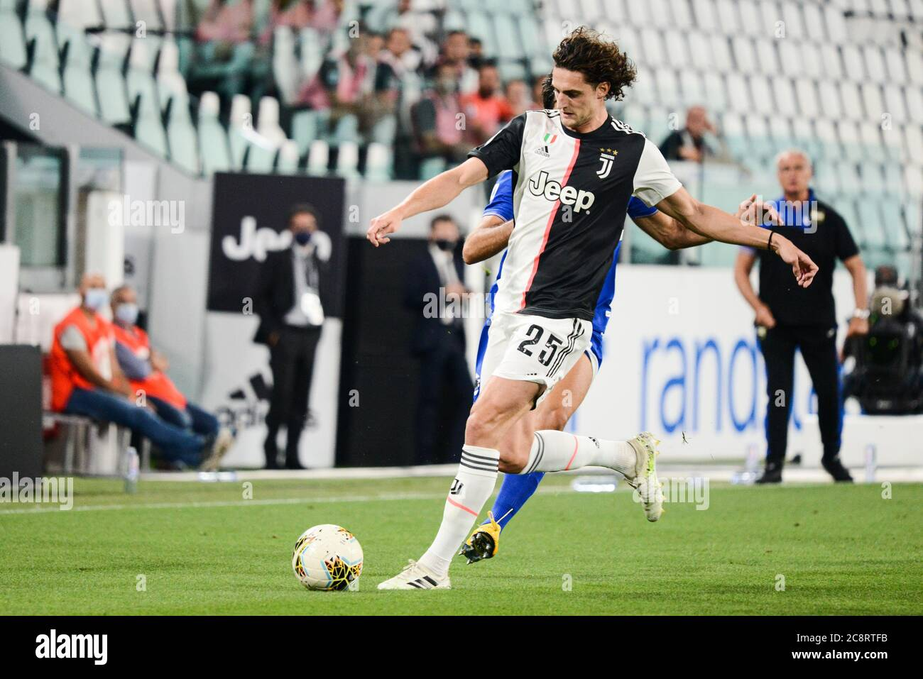 Turin Italy 26th July 2020 7 26 2020 Adrien Rabiot Of Juventus Fc In Action During