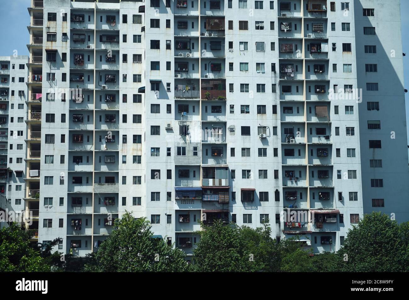 Housing tower blocks in Kuala Lumpur, Malaysia Stock Photo