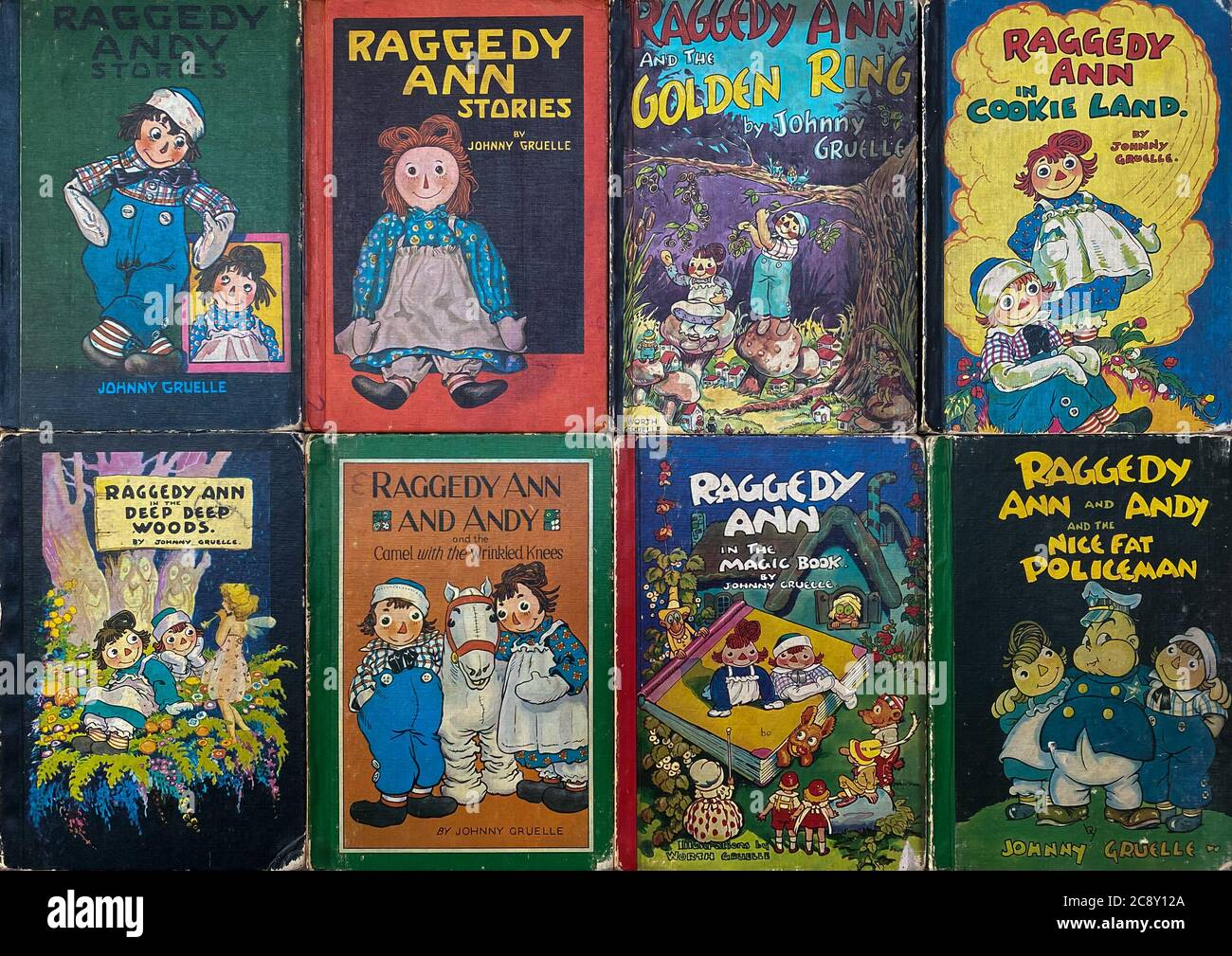 Vintage Raggedy Anne Fabric /& Books