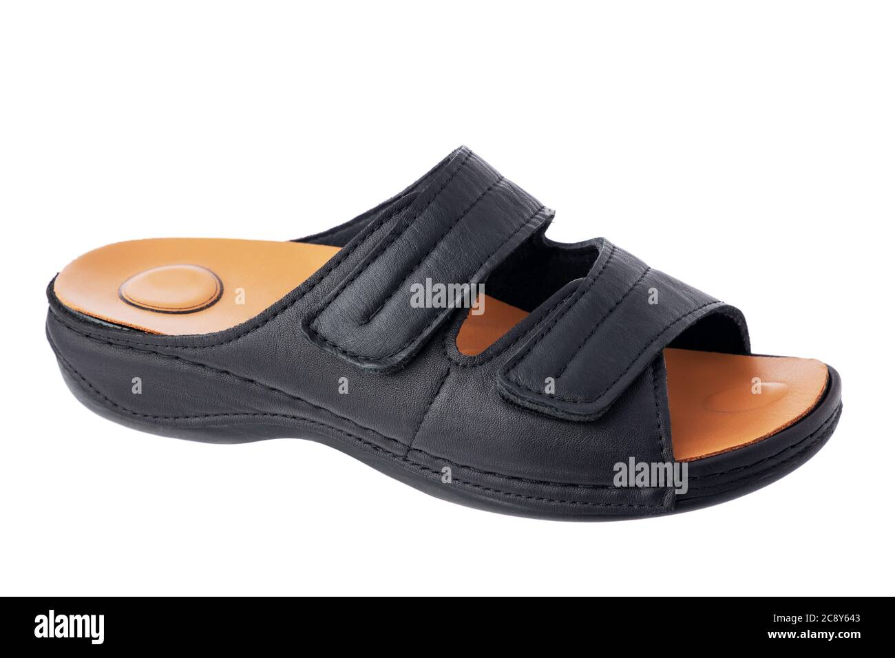 Orthopedic leather sandals or slippers