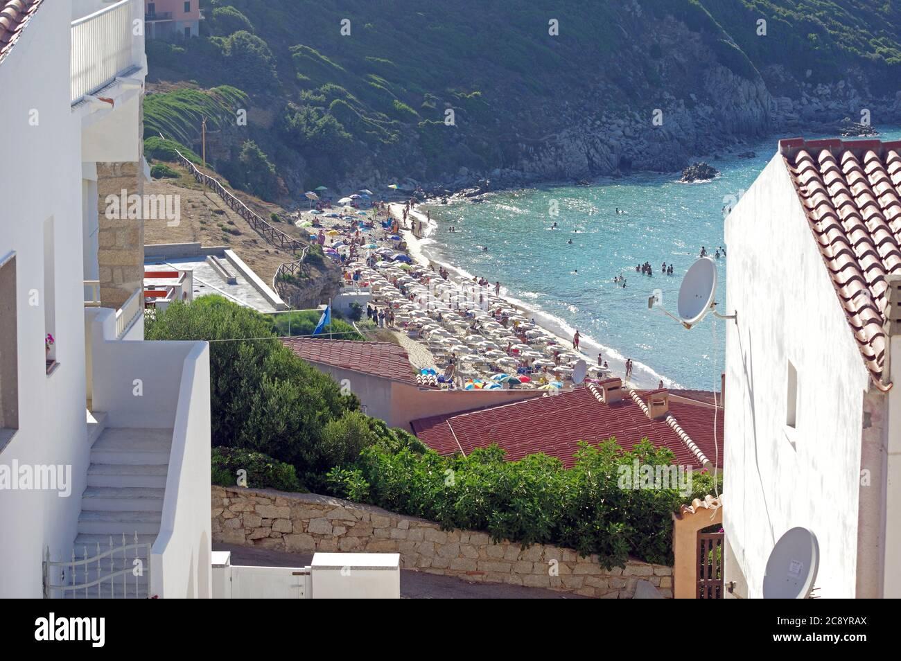Santa Teresa Gallura,Sardinia, Italy. The Rena Bianca beach Stock Photo