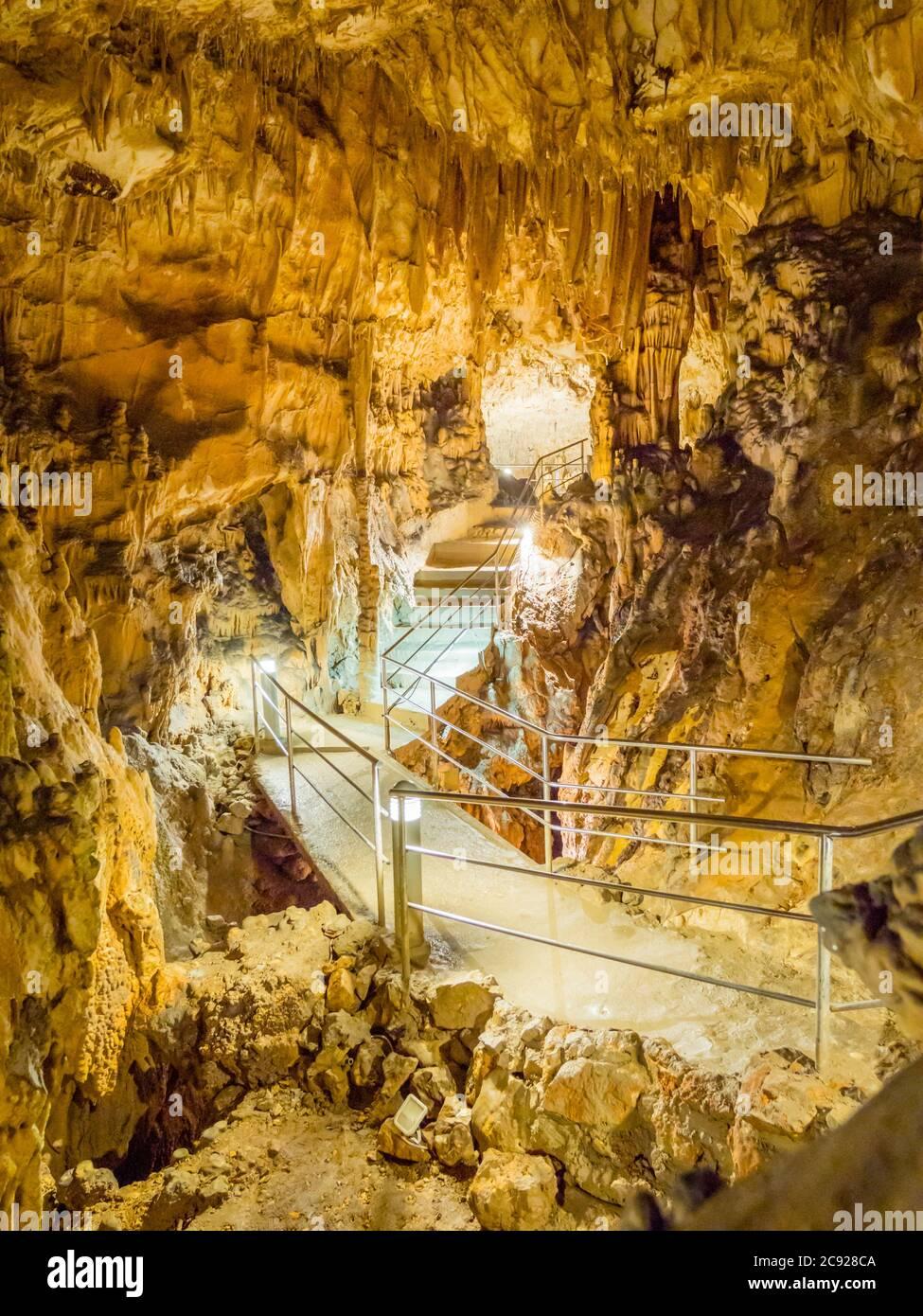 Biserujka cave in island Krk in Croatia Europe Stock Photo